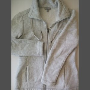 Talbots womens grey zip up fitted jacket